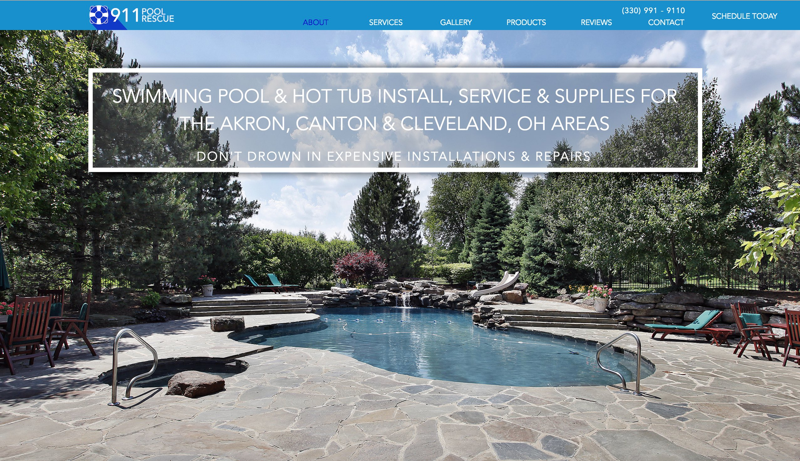 Residential Builder & Swimming Pool Website Design | ZUCUE