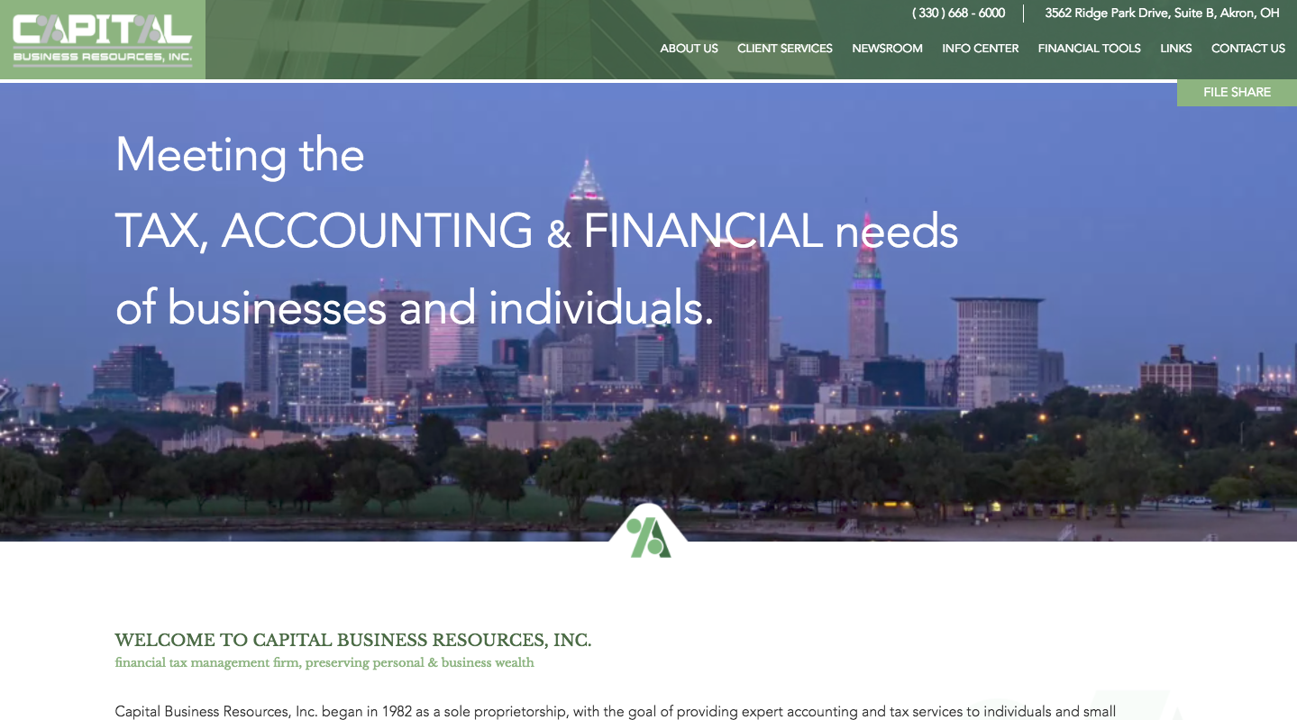 Tax Preparation Website Design | ZUCUE