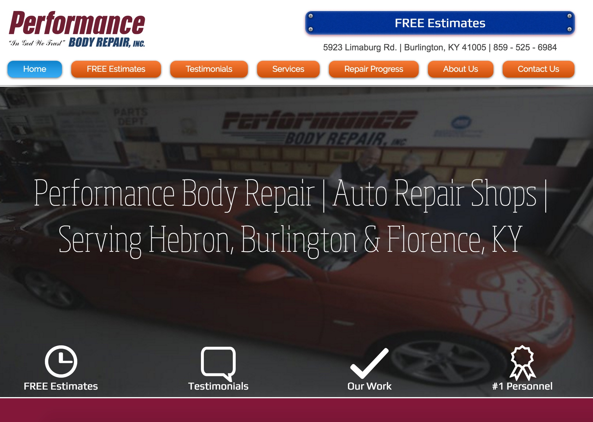 Auto Body Shop Website Design | ZUCUE