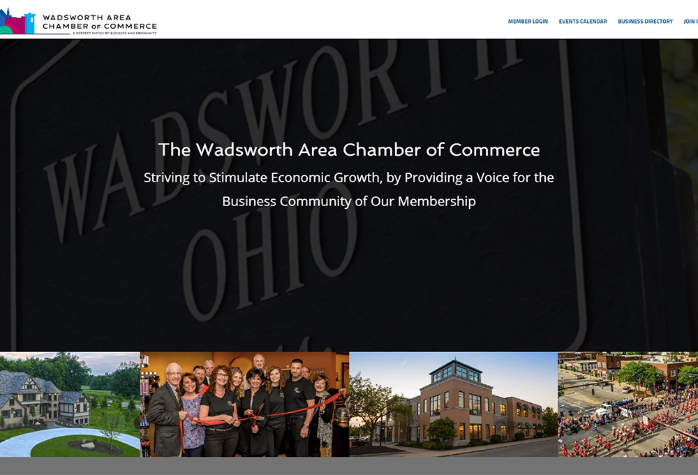 Wadsworth Chamber Website Design | ZUCUE